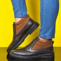 کفش ساقدار مردانه قهوه ای تيره مدل Bonshad