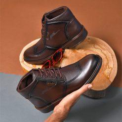 کفش ساقدار مردانه مدل Dadban
